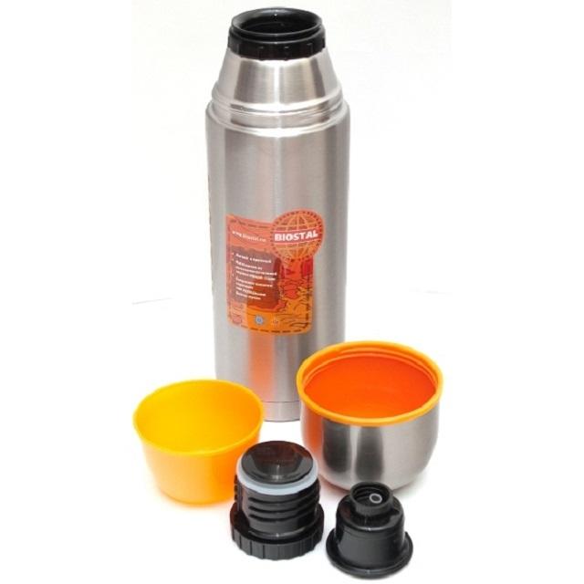 Термос узкое горло , 2пробки, чашка, 500мл Biostal NBP-500