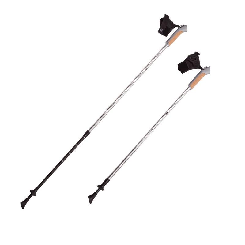 Палки для скандинавской ходьбы RGX 2-секционные 85-135 см NWS-13 Серебряный/Черный