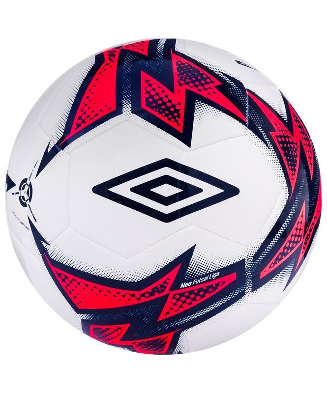 Мяч футзальный р.4 Umbro Neo Futsal Liga 20871U, бел/т.син/роз. мяч футзальный umbro neo futsal liga р 4