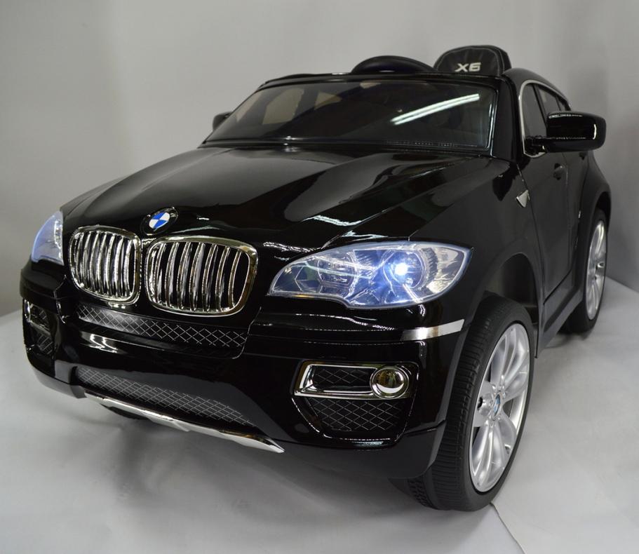 Электромобиль River-Toys BMW X6 (лицензия) черный глянец с ДУ