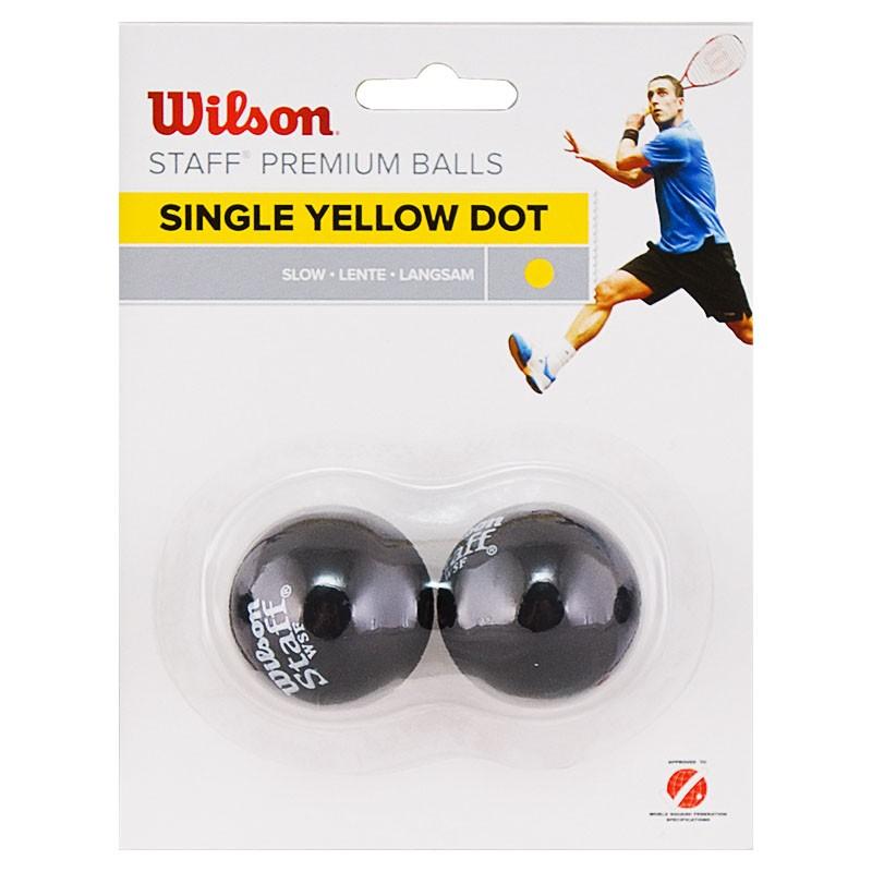 Мяч для сквоша Wilson Staff Yellow WRT617800