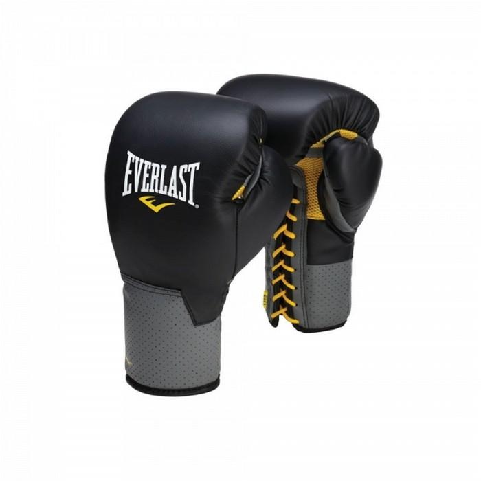 Перчатки тренировочные на шнуровке Everlast Pro Leather Laced