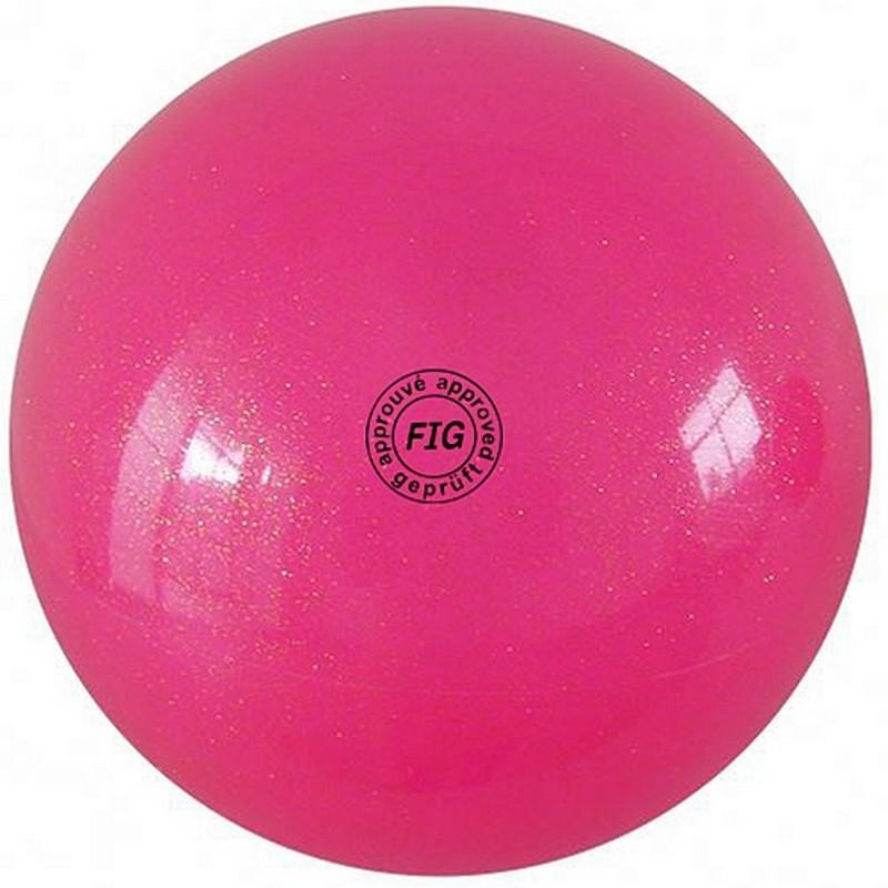 Купить Мяч для художественной гимнастики 15 см GC 02 розовый металлик, NoBrand