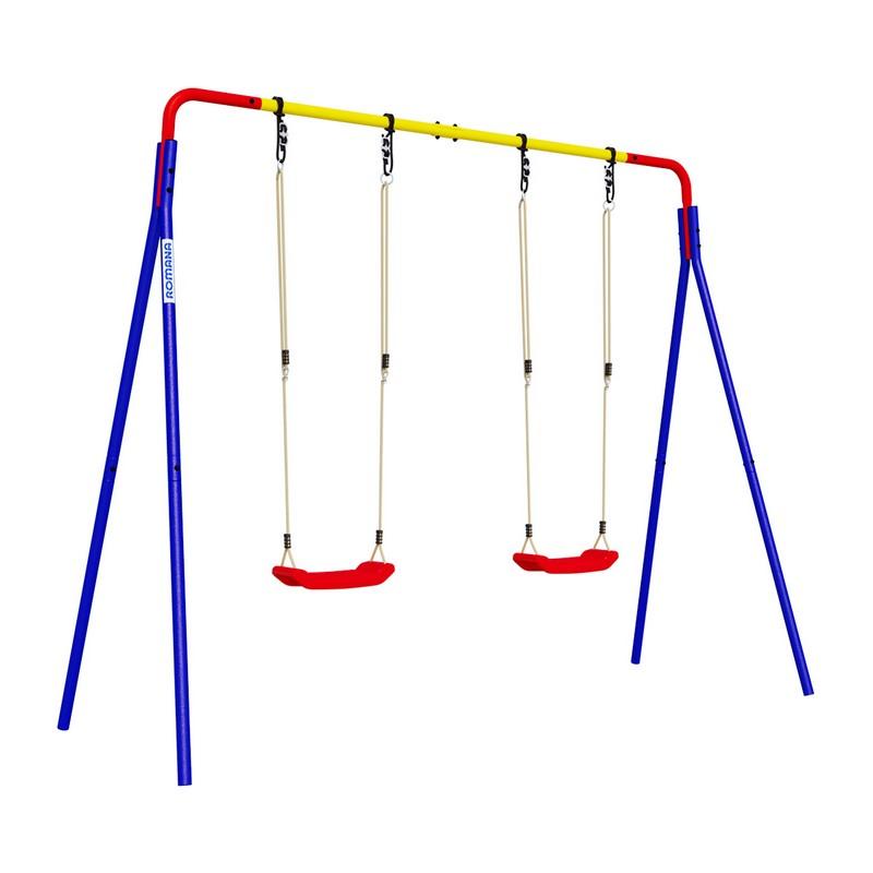 Купить Качели двойные пластиковые качели Romana R.103.28.04, Качели для улицы