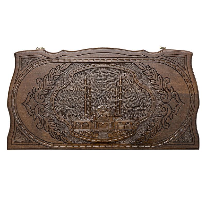 Купить Нарды резные Rasulov Мечеть Сердце Чечни MR014, Шахматы, шашки, нарды