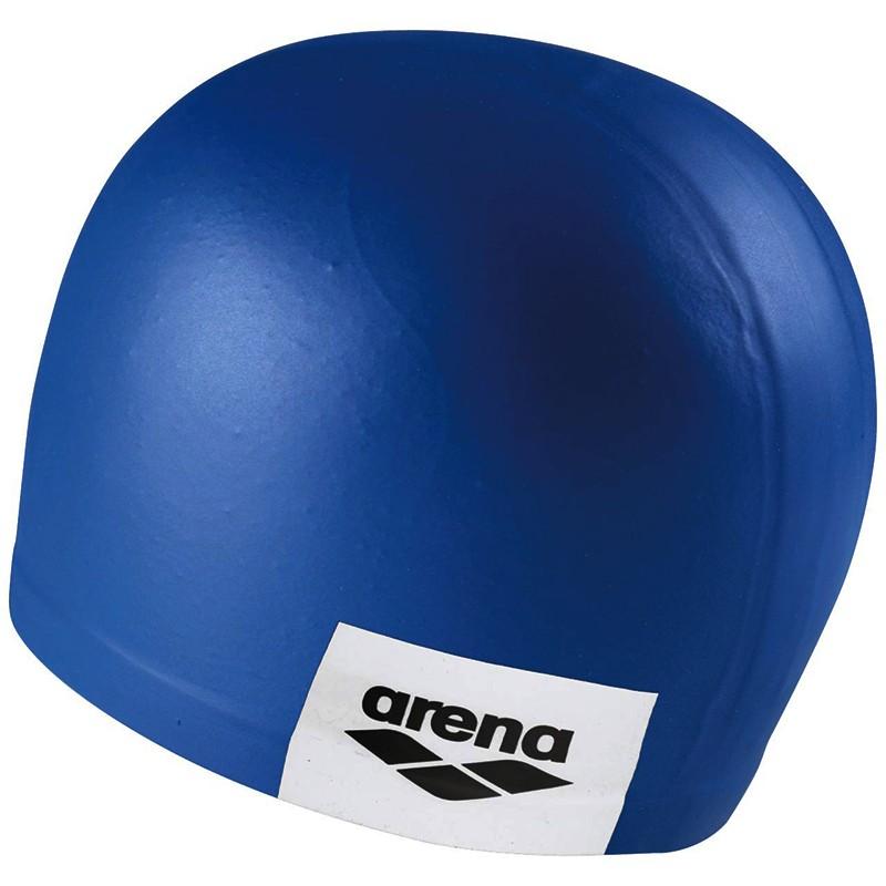 Купить Шапочка для плавания Arena Logo Moulded Cap 001912101-211, синий, силикон,