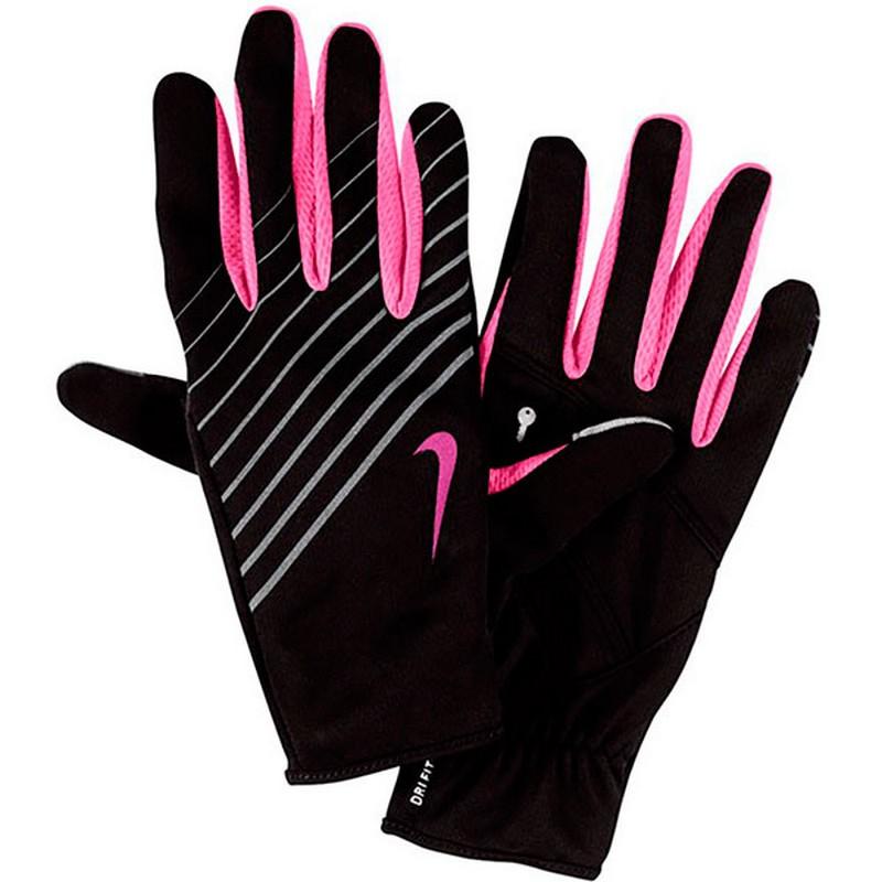 Перчатки для бега Nike Wmn'S LW Tech Running Gloves Black/Club Pink nike nike rally running gloves