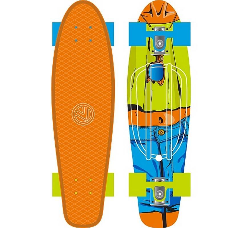 Мини-круизер Larsen Jeans оранж/гол/зел сумка для мини круизера larsen 63x26cm orange