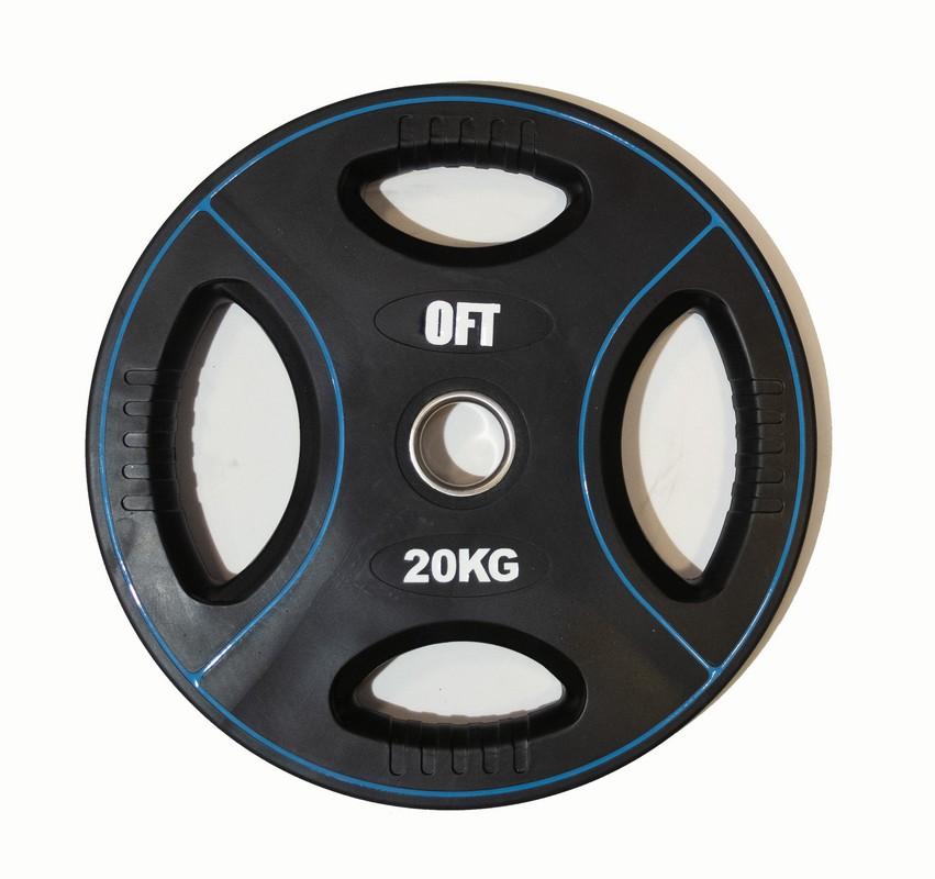 Диск для штанги олимпийский Original Fit.Tools полиуретановый 20 кг FT-DPU-20