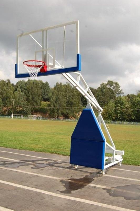 Стойка баскетбольная мобильная складная игровая, вынос 3,25 м М173 с противовесами