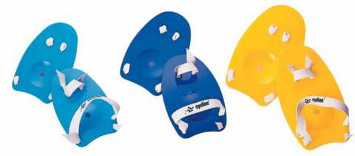 Лопатки пальцевые для плавания Eyeline р.L желтые