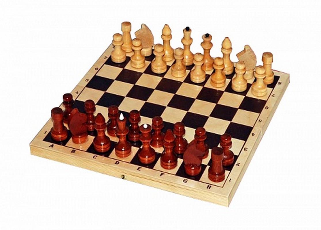 Купить Шахматы Larsen лакированные с доской, Шахматы, шашки, нарды