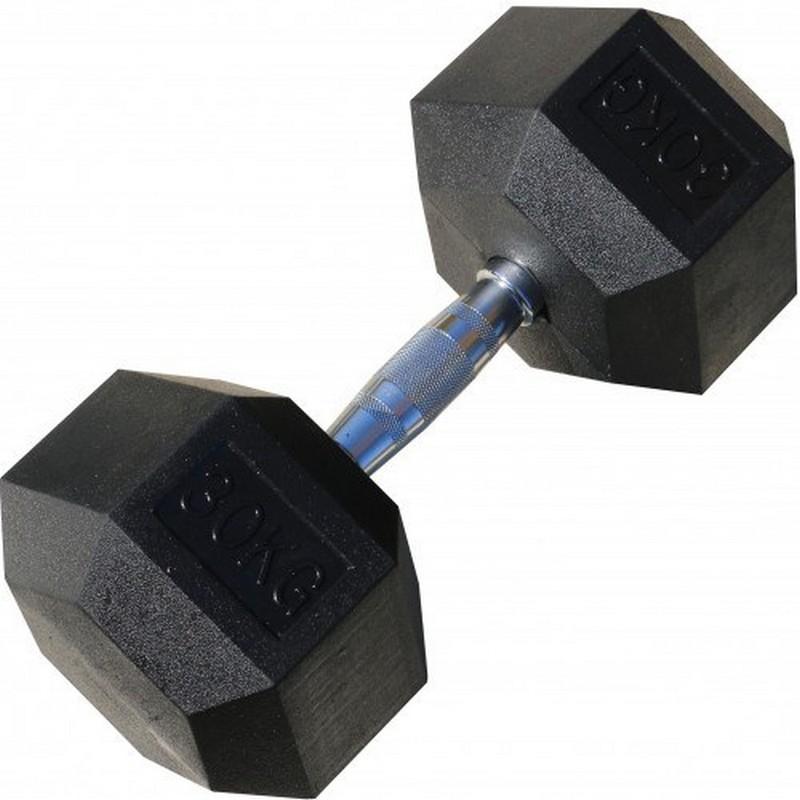 Гантель гексагональная обрезиненная 30 кг Iron King CR 74 цена