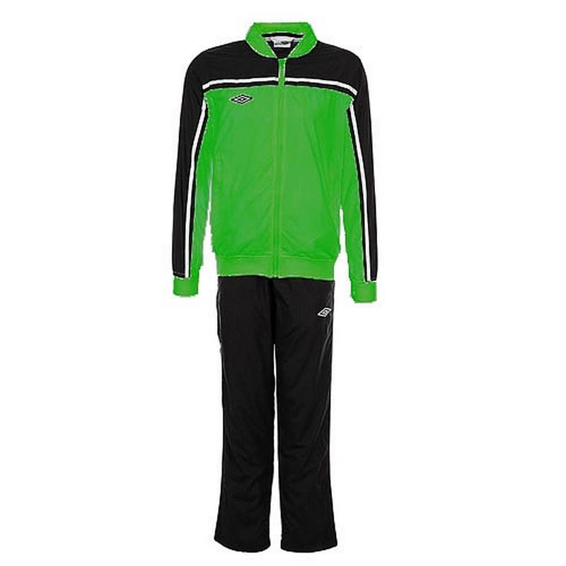 Костюм спортивный Umbro Stadium lined Suit мужской 460213 (461) зел/чёр/бел.