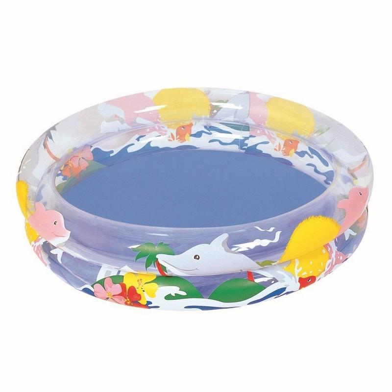 Детский круглый бассейн 91х20см Bestway Морская жизнь 51012
