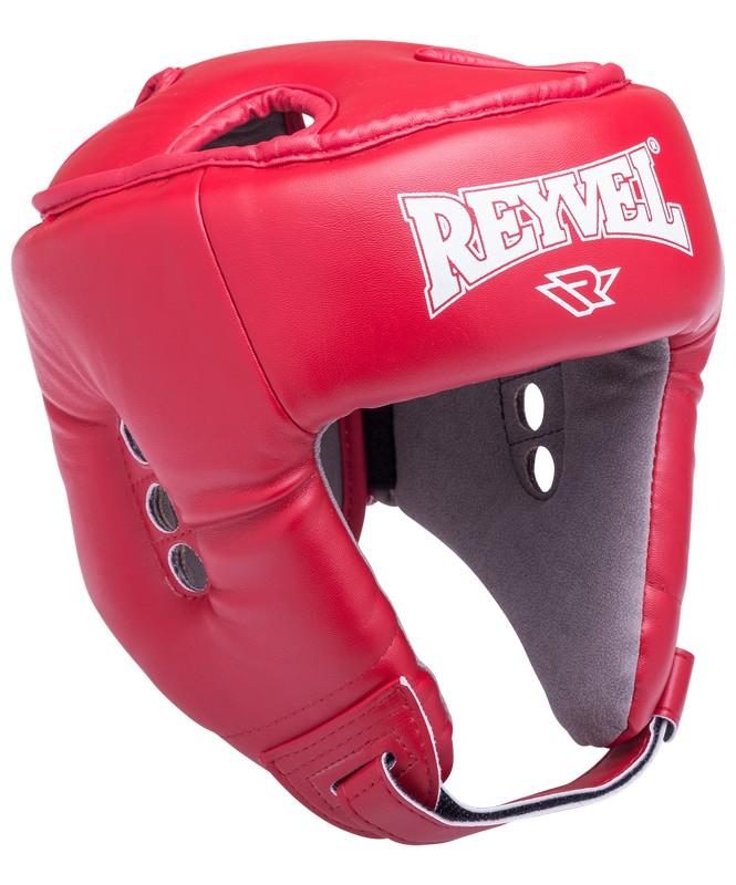 Шлем открытый Reyvel RV-302, к/з, красный