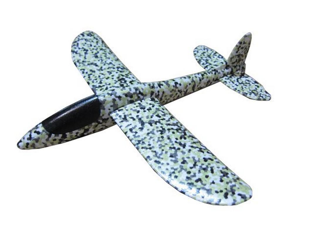 Купить Планер малый Bradex с пусковым механизмом, размах крыла 36 см DE 0457 черно-белый,
