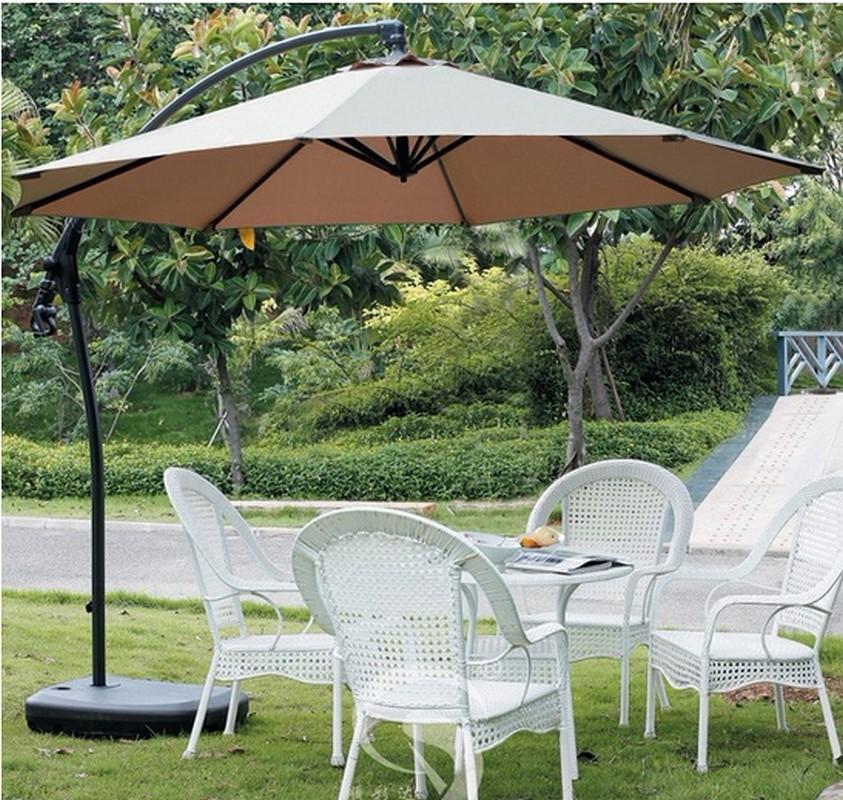 Зонт садовый на стальной подставке GardenWay A005 Бежевый (тауп)