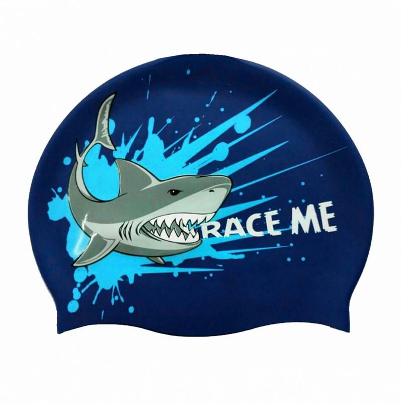 Купить Шапочка для плавания CF-4 синий, NoBrand