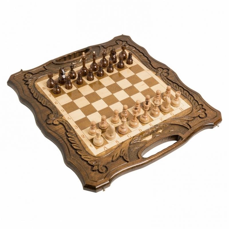 Шахматы + нарды резные Haleyan c Араратом 50 с ручкой kh117 шахматы нарды резные haleyan бриз 50