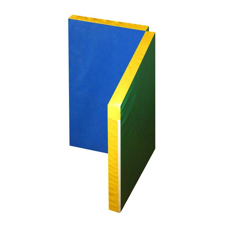 Купить Мат гимнастический Юный Атлет складной 1х1х0,06 м синийзеленыйжелтый, NoBrand