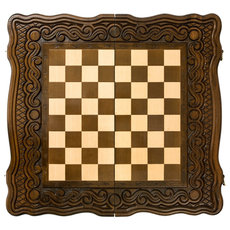 Шахматы + нарды резные Haleyan Бриз 40 шахматы нарды резные haleyan бриз 50