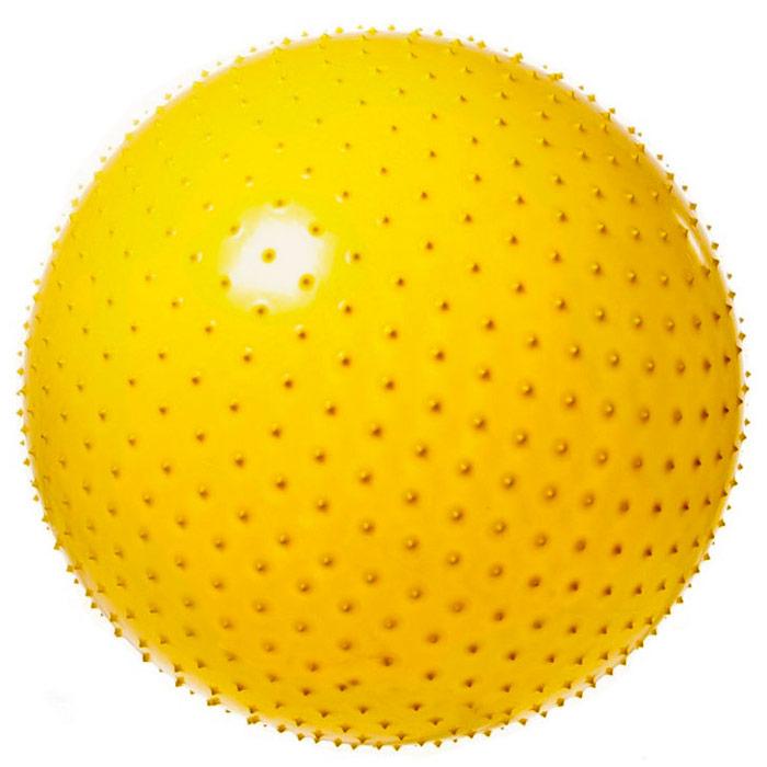Купить Мяч гимнастический Anti-Burst массажный 75 см FBM-75-1, желтый, NoBrand