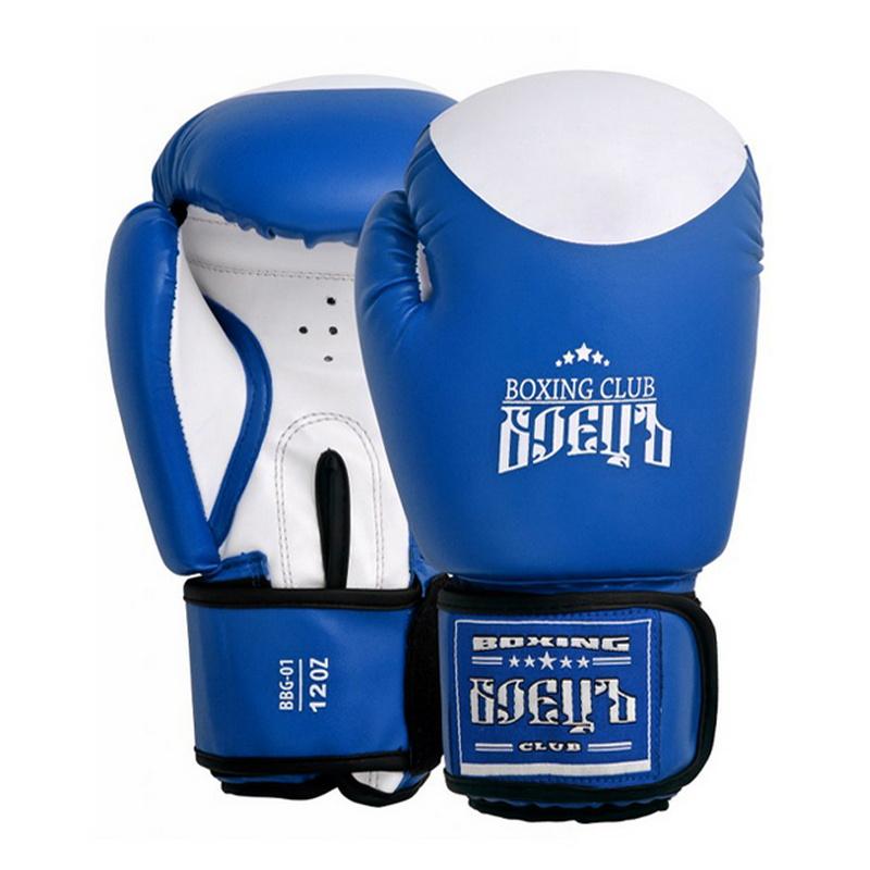 Боксерские перчатки Боецъ BBG-01 Синие 12 oz,  - купить со скидкой