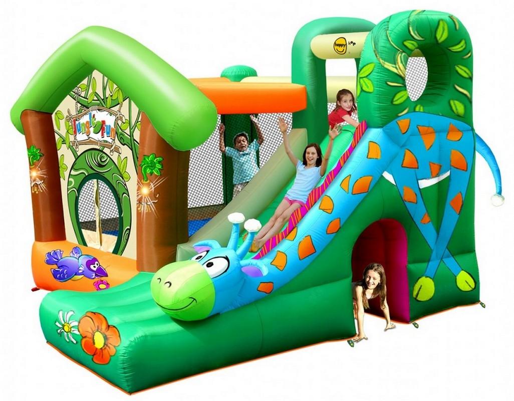 Детский надувной игровой центр Happy Hop Жираф 9139