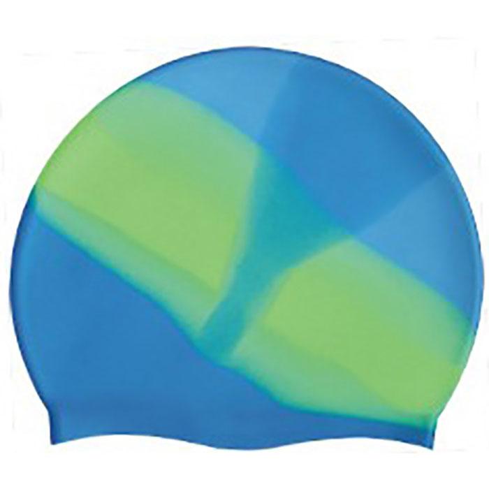 Купить Шапочка для плавания SR Голубая, зеленая (градиент) без логотипа MC409, NoBrand