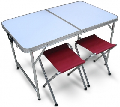 Складной стол и две табуретки PT-019 складной стол для наклеивания обоев