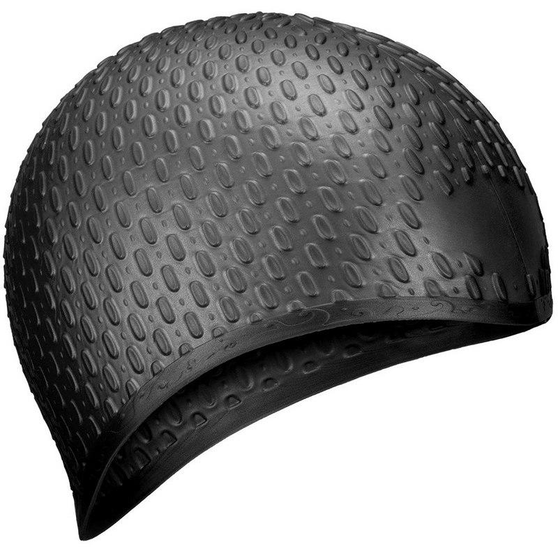 Шапочка для плавания силиконовая B31519-8 Bubble (Черный) фото