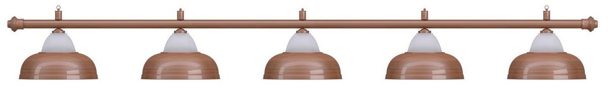 Купить Лампа на пять плафонов Crown d38 см 75.021.05.0 бронзовая штанга, бронзовый плафон, NoBrand