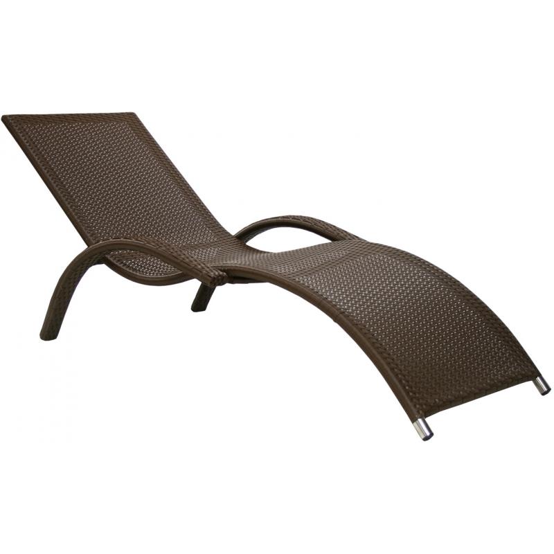 Шезлонг-лежак GardenWay Capri 760505 коричневый