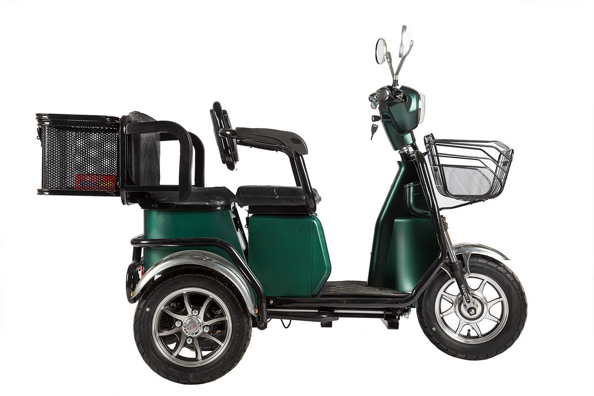 Электротрицикл RuTrike S2 L1 зеленый