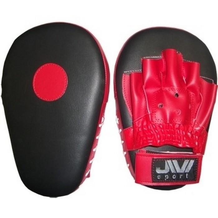 Лапы боксерские прямые JIVIsport Е048 сине-красные лапы вверх cdmp3