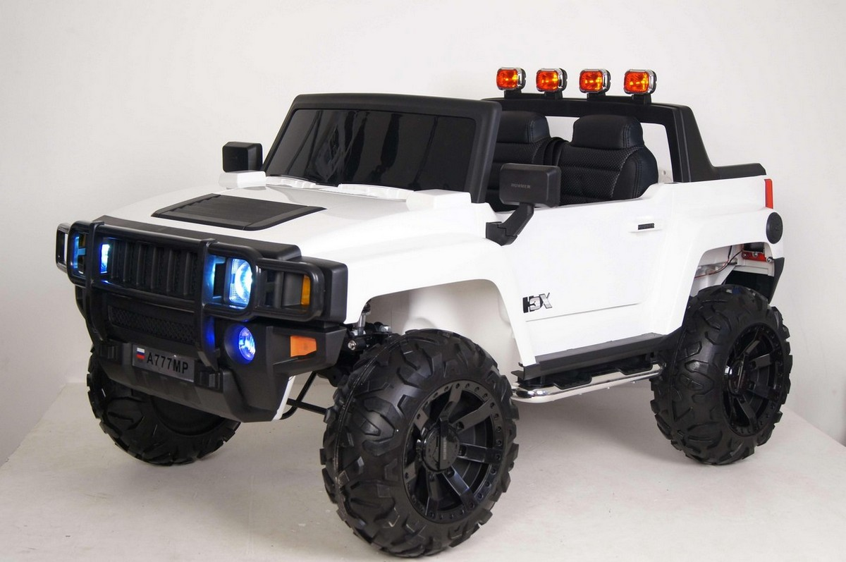 Двухместный джип River-Toys Hummer A777MP белый