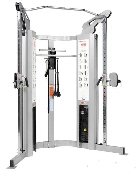 Мультистанция для персональных тренировок (стек: 2х200 фунтов) Hoist HD-1900-2 гриф для тяги прямой oxygen rhma 2
