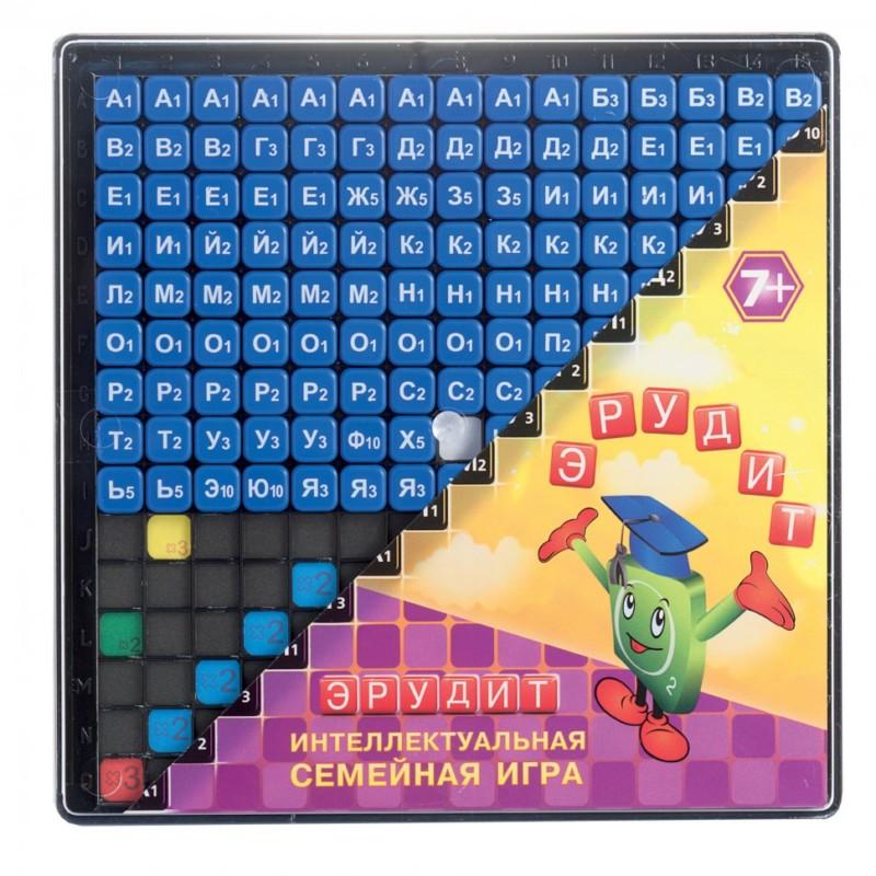 Игра Эрудит синие фишки Биплант  bp10012