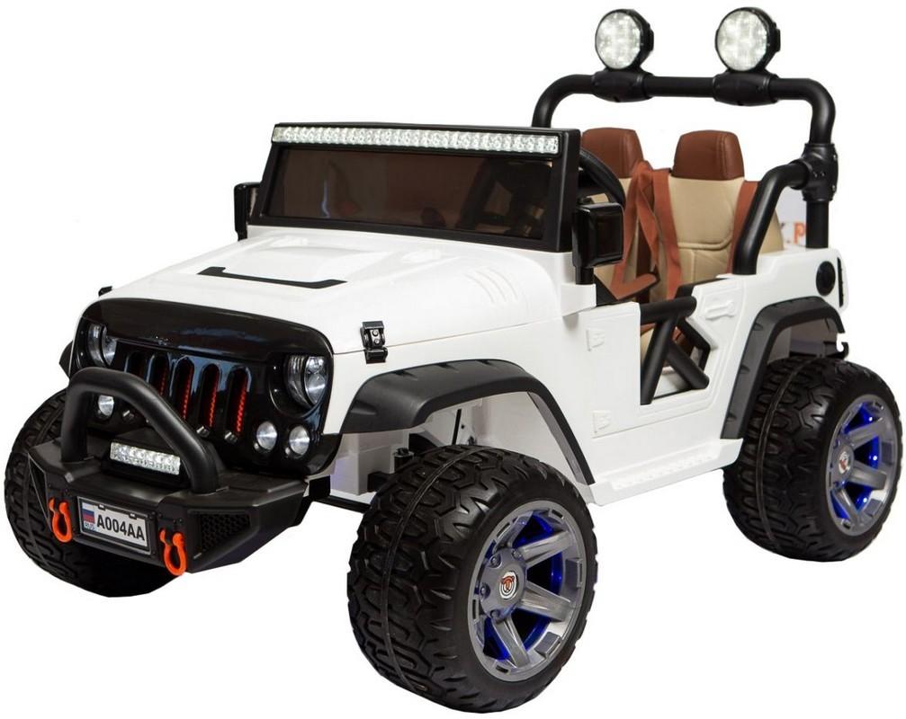 Детский электромобиль River-Toys Jeep A004AA белый