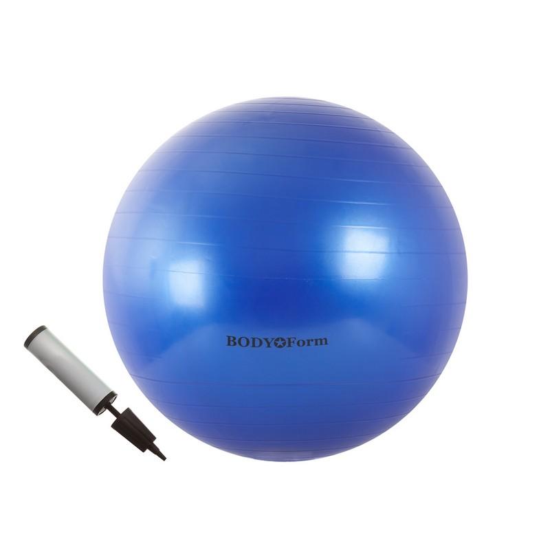 Набор 65 см (мяч гимнастический + насос) Body Form BF-GBP01 голубой гимнастический шар 65 см