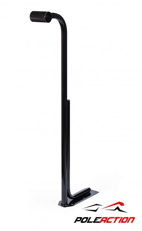 Модель №12 – стойка балетного (хореографического) станка одноуровневого Poleaction Грация (цвет - черный) 585