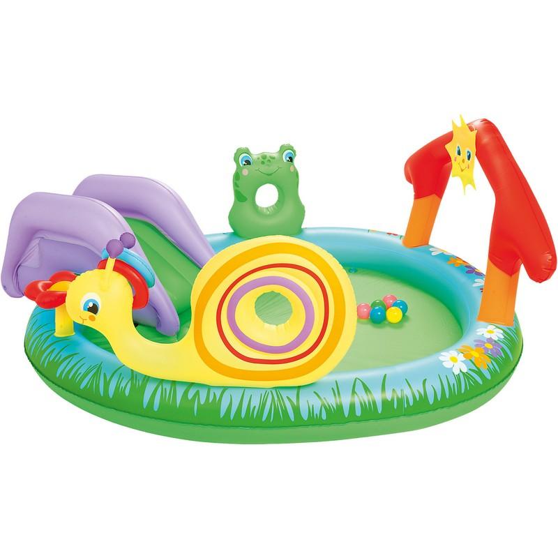 Купить Игровой центр с горкой 211х155х81см Bestway 53055, Детские надувные бассейны