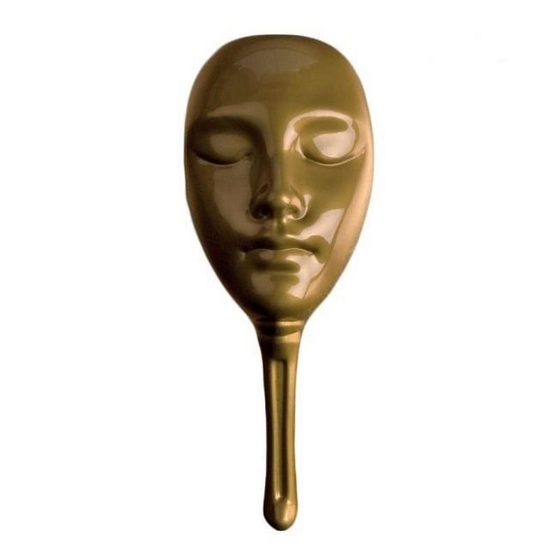 Маска для мафии пластиковая mask4 золотая фото