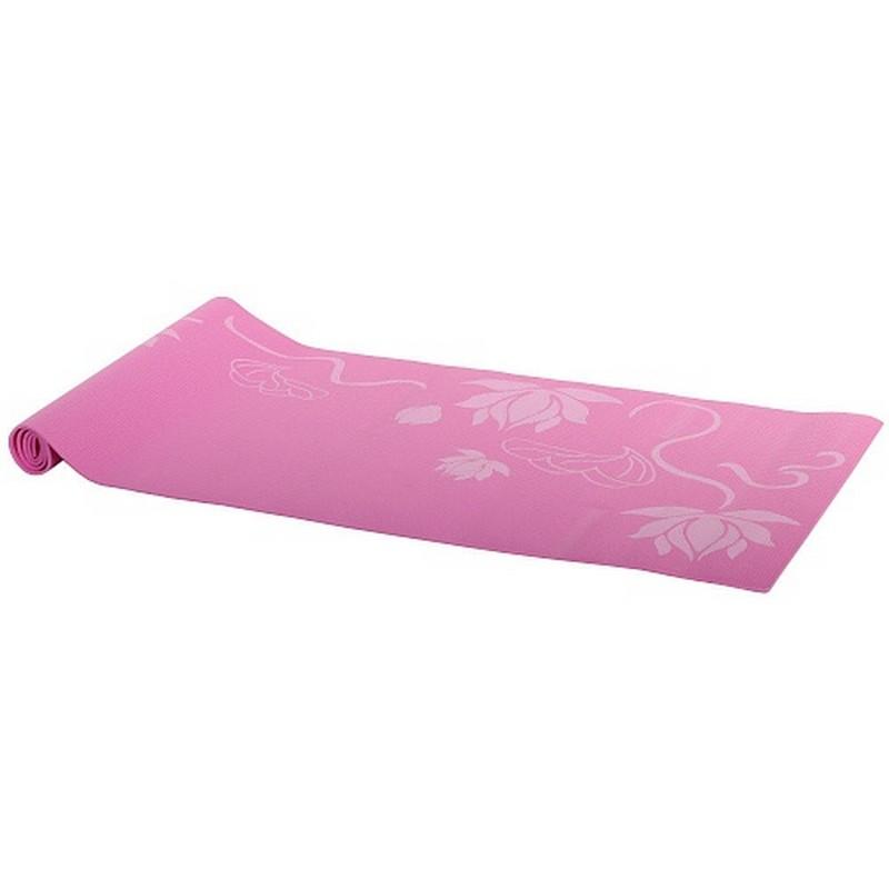 Коврик для фитнеса и йоги Alonsa AS4 224С009 PVC розовый с принтом