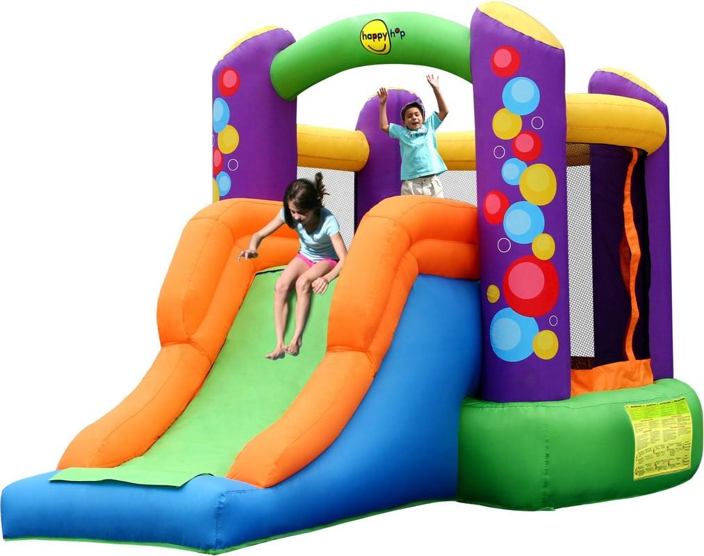 Детский надувной Батут с горкой Happy Hop 9236