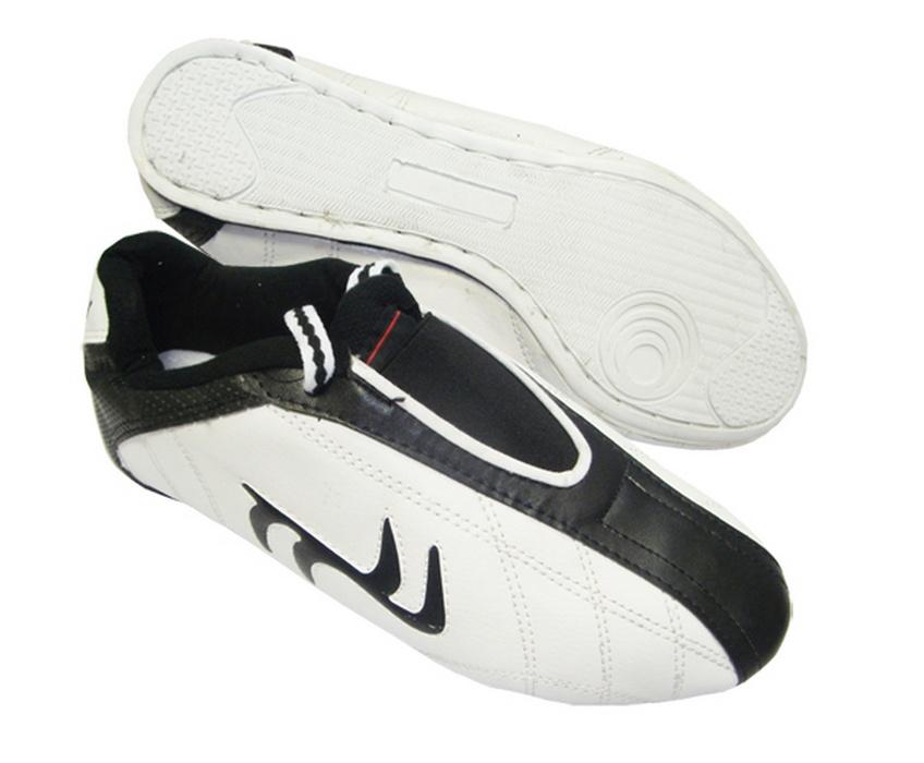 Обувь для Таэквандо Ronin белые с черн полосой, класс Мастер D292