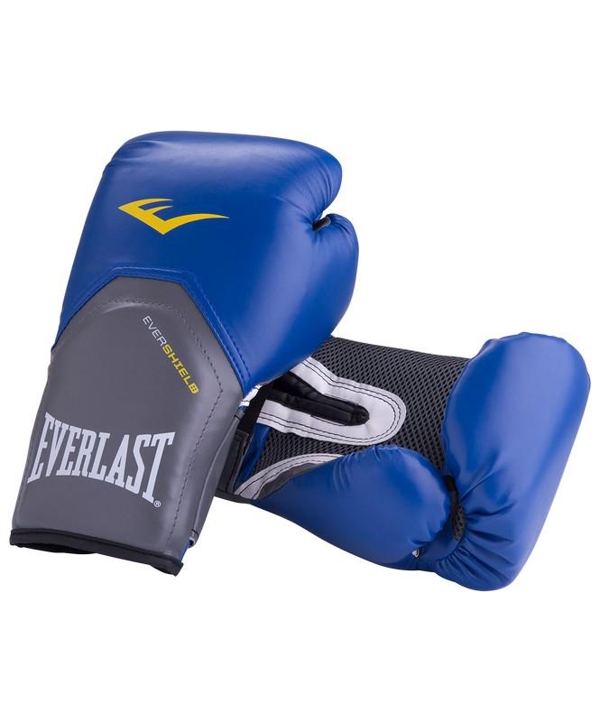 Купить Перчатки боксерские Everlast Pro Style Elite 2216E, 16oz, к/з, синий,