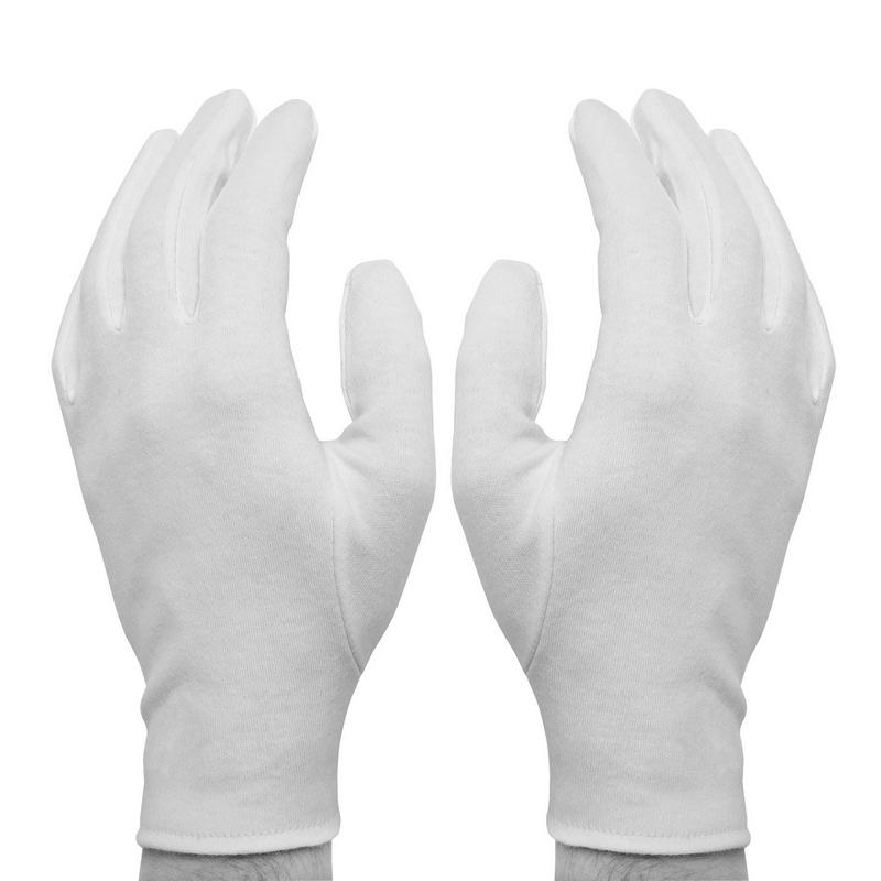 Перчатки р.L Fortuna Referee пятипалые белые 2шт.