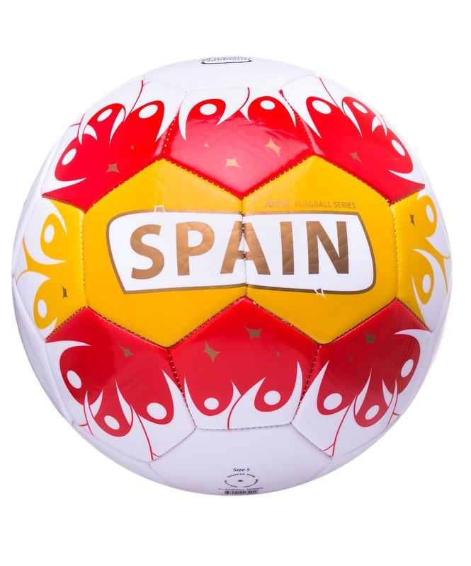 Мяч футбольный J?gel Spain №5 бел/крас/жел/золот.